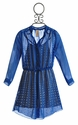 Tru Luv Blue Chiffon Tween Dress