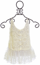 Tru Luv Crochet and Lace Tank Top (8,10,12)