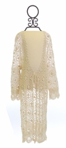 Tru Luv Crochet Maxi Cardigan for Girls