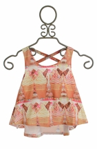 Tru Luv Crossback Tank for Girls Love Ice Cream