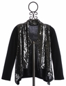 Tru Luv Disco Ballerina Tween Cardigan with Sequins