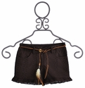 Tru Luv Eyelet Tween Shorts with Leather Belt
