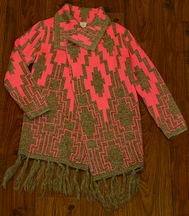 Tru Luv Fashion Sweater for Tweens with Tassels