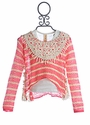 Tru Luv Girls Coral Hi-Low Sweater with Tank