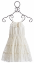 Tru Luv Girls Lace Dress with Ruffled Neckline (Size 8)