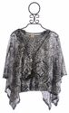 Tru Luv Girls Layered Swing Tunic Charcoal Tribal