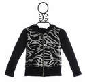 Tru Luv Girls Sequin Zebra Hoodie Party Rock