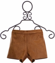Tru Luv Girls Shorts in Brown Suede (7,10,12,14)