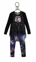 Tru Luv Graphic Tunic and Leggings Set (Size 7)