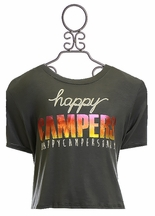 Tru Luv Happy Campers Top for Girls