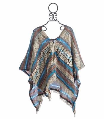 Tru Luv Happy Days Tween Poncho Cardigan