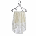 Tru Luv Ivory Lace Tween High-Low Skirt