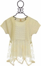 Tru Luv Lace Top for Tweens in Ivory (10,12,14)