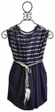 Tru Luv Laguna Braided Tween Dress Navy Stripes