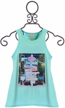 Tru Luv Mermaid Cove Blue Tank for Tweens (10,12,14)