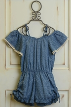 Tru Luv Morocco Romper for Tweens in Blue