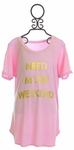 Tru Luv Need More Weekend Tee Lounge Gown (8,10,12)