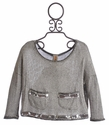 Tru Luv Oxford Oversized Tween Sweater