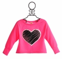 Tru Luv Party Rock Sequin Heart Girls Sweater