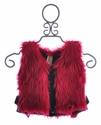 Tru Luv Red Faux Fur Girls Vest