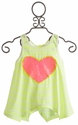Tru Luv Sequin Heart Skater Girl Tank