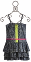 Tru Luv Skater Girl Paint Splatter Dress for Tweens