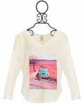 Tru Luv Tween Guitar and Car Top in Ivory (10,12,14)