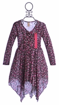 Tru Luv Tween Hanky Hem Floral Dress (8 & 12)