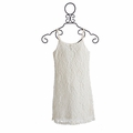 Tru Luv Tween Ivory Dress Brushed Lace