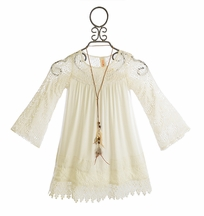 Tru Luv Tween Ivory Dress with Bell Sleeves (7 & 14)