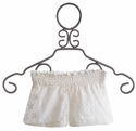 Tru Luv Tween Lace Shorts Ivory