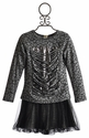 Tru Luv Tween Oxford Skirt and Lace Sequin Top