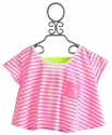 Tru Luv Tween Striped Skater Girl Top