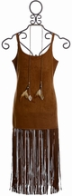 Tru Luv Tween Suede Dress in Brown