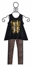 Tru Luv Tween Tank with Leggings Life is Beautiful (Size 7)