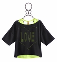 Tru Luv Tween Top Oversized Neon Love