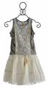 Tru Luv Tween White Lace Skirt & Grey Tank