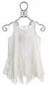Tru Luv White Lace Tunic for Tweens