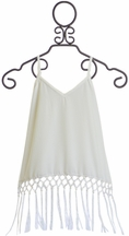 Tru Luv White Tween Top with Fringe (7,8,10,12)