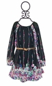 Truly Me Black Chiffon Dress for Tweens Fancy Flower