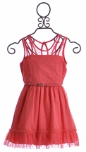Truly Me Coral Party Dress for Tweens (Size 10)