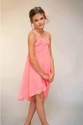 Truly Me Coral Strappy Girls Dress in Chiffon