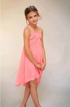 Truly Me Coral Strappy Girls Dress in Chiffon (8)