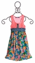 Truly Me Fun Girls Dress in Neon