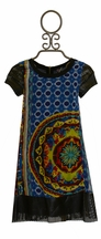 Truly Me Geo Print Dress for Girls