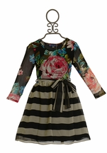 Truly Me Girls Chiffon Dress in Floral Print (Size 10)