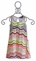 Truly Me Girls Neon Dress in Zig Zag