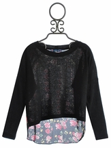 Truly Me Girls Sweater Top with Chiffon Back (Size 16)