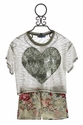 Truly Me Heart Top with Floral Shorts