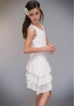 Truly Me Ivory Lace Girls Dress Casual (4, 5, 6, 10)